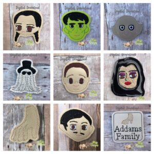 Creepy Family Feltie Set Machine Embroidery Designs Digital Download by MGEDesigns
