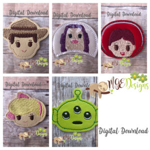 Stories About Toys Feltie Set of 5 Machine Embroidery Designs Digital Download MGEDesigns