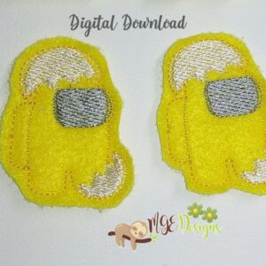 Among Us Meh Egg Feltie Machine Embroidery Design Digital Download by MGEDesigns