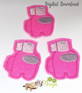 Among U Toilet Paper Feltie Machine Embroidery Designs Digital Download by MGEDesigns