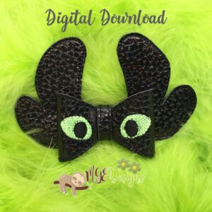 3D Dragon Training Bow Machine Embroidery Design Digital Download by MGEDesigns