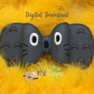 3D Toto Bow Machine Embroidery Design Digital Download by MGEDesigns