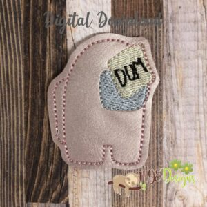 Among Dum Feltie Machine Embroidery Design Digital Download by MGEDesigns