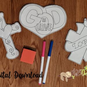 Religious Coloring Dolls Set 2 Machine Embroidery Design Digital Download by MGEDesigns