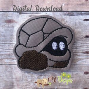 Mario Turtle Feltie Machine Embroidery Design Digital Download by MGEDesigns