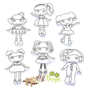 La Loopsy Coloring Dolls Machine Embroidery Design Digital Download by MGEDesigns