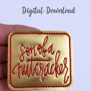 Son of a Nutcracker Feltie Machine Embroidery Design Digital Download by MGEDesigns