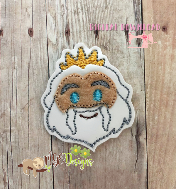 Titan King Feltie Machine Embroidery Design Digital Download by MGEDesigns