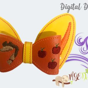 3D AppleJack Bow Machine Embroidery Design Digital Download by MGEDesigns