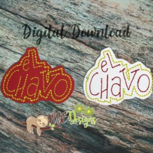 El Chavo Feltie Machine Embroidery Design Digital Download by MGEDesigns