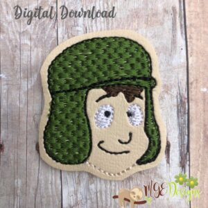 Chavo Boy 1 Feltie Machine Embroidery Design Digital Download by MGEDesigns