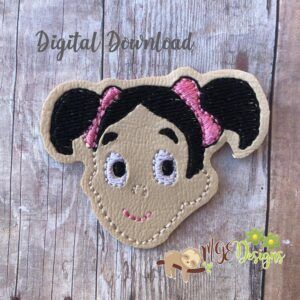 Chavo Girl2 Feltie Machine Embroidery Design Digital Download by MGEDesigns