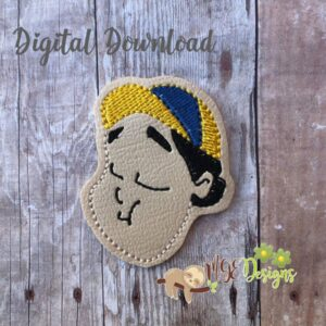 Chavo Boy 2 Feltie Machine Embroidery Design Digital Download by MGEDesigns