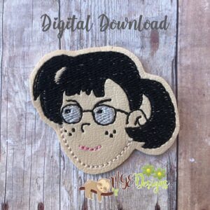 Chavo Girl Feltie Machine Embroidery Design Digital Download by MGEDesigns