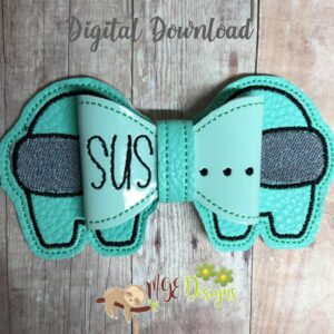 3D AmongU Bow Machine Embroidery Design Digital Download by MGEDesigns