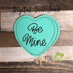 Be Mine Heart Feltie Machine Embroidery Design Digital Download by MGEDesigns