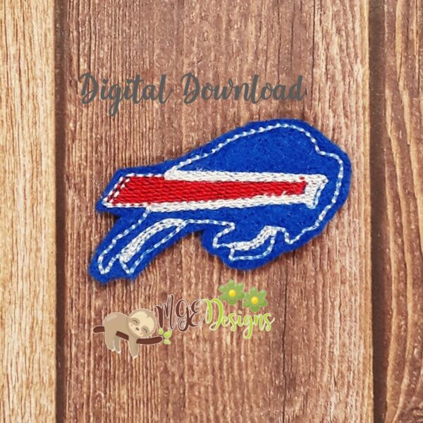 Football Buffalo Feltie Machine Embroidery Design Digital Download by MGEDesigns