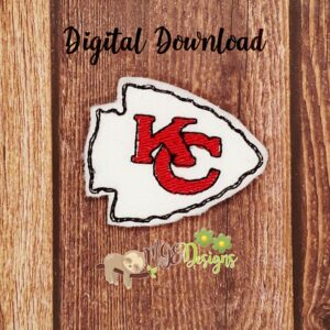 Football Chiefs Feltie Machine Embroidery Design Digital Download by MGEDesigns