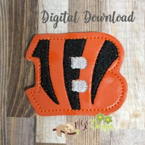 Football Bengals Feltie Machine Embroidery Design Digital Download by MGEDesigns