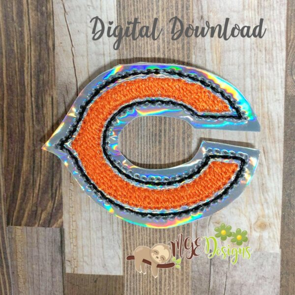 Football Bears Feltie Machine Embroidery Design Digital Download by MGEDesigns