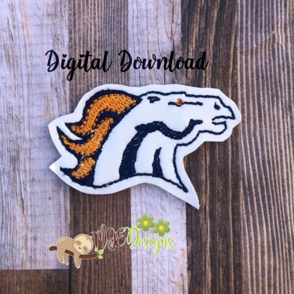 Football Bronc's Feltie Machine Embroidery Design Digital Download by MGEDesigns