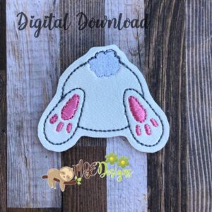 Bunny Butt Feltie Machine Embroidery Design Digital Download by MGEDesigns