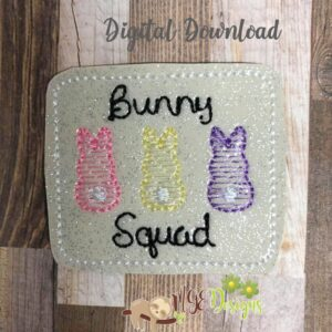 Bunny Squad Feltie Machine Embroidery Design Digital Download by MGEDesigns