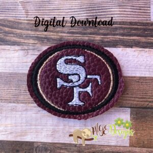 Football San Fran Feltie Machine Embroidery Design Digital Download by MGEDesigns