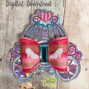 3D Carriage HairBow Machine Embroidery Design Digital Download by MGEDesigns