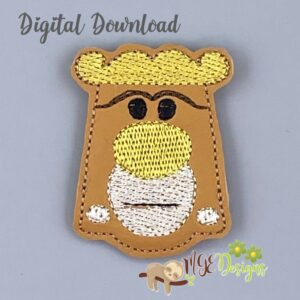 AW Door Knob Feltie Machine Embroidery Design Digital Download by MGEDesigns