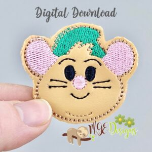 Gus Mouse Feltie Machine Embroidery Design Digital Download by MGEDesigns