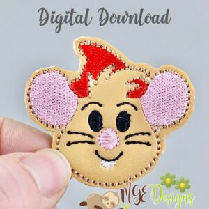 Jaq Mouse Feltie Machine Embroidery Design Digital Download by MGEDesigns