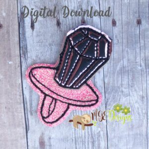 Ring Pop Feltie Machine Embroidery Design Digital Download by MGEDesigns