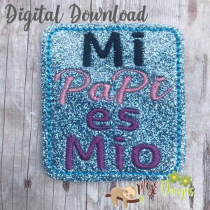 Mi Papi Feltie Machine Embroidery Design Digital Download by MGEDesigns