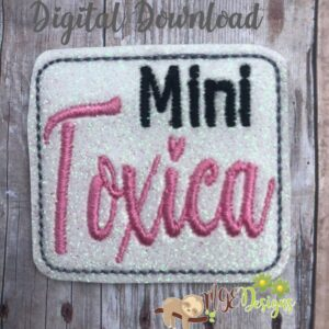 Mini Toxica Feltie Machine Embroidery Design Digital Download by MGEDesigns