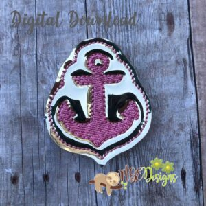 Anchor Feltie Machine Embroidery Design Digital Download by MGEDesigns