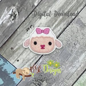 Lambie Updated Feltie Machine Embroidery Design Digital Download by MGEDesigns