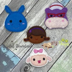 Updated Doc Stuff Set of 4 Felties Machine Embroidery Designs Digital Download by MGEDesigns
