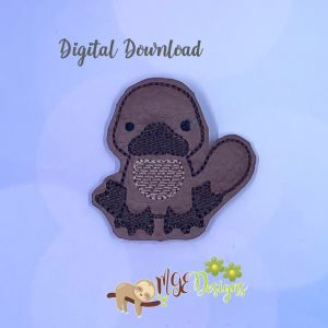 Platypus Feltie Machine Embroidery Design Digital Download by MGEDesigns