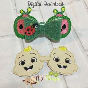 3D Coco Bow 2 in 1 Machine Embroidery Design Digital Download by MGEDesigns