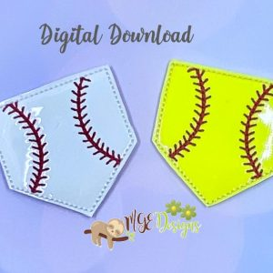Ball Field Feltie Machine Embroidery Design Digital Download by MGEDesigns