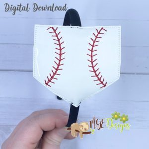 Ball Field Headband Planner Band Slider Machine Embroidery Design Digital Download by MGEDesigns