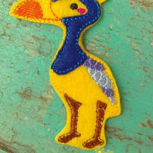 OverSized Up Bird Feltie Machine Embroidery Design Digital Download by MGEDesigns