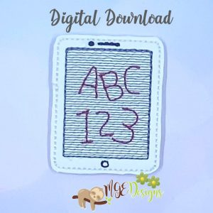 ABC Tablet Feltie Machine Embroidery Design Digital Download by MGEDesigns