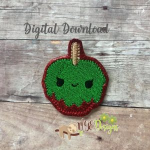 Kawaii Spooky Candy Apple Feltie Machine Embroidery Design Digital Download by MGEDesigns