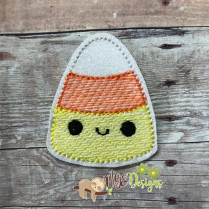Kawaii Candy Corn Feltie Machine Embroidery Design Digital Download by MGEDesigns