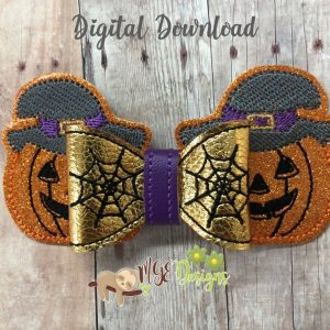 3D Pumpkin Hairbow Machine Embroidery Design Digital Download by MGEDesigns