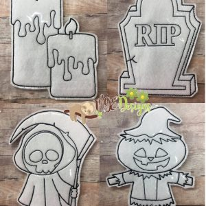 Spooky Collections Coloring Dolls Machine Embroidery Design Digital Download by MGEDesigns
