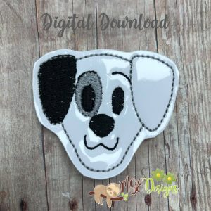 Patch Dog Feltie Machine Embroidery Design Digital Download by MGEDesigns